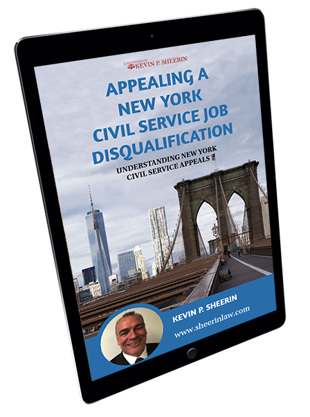 Appealing a New York Civil Service job disqualification